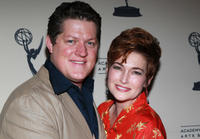 Derk Cheetwood and Carolyn Hennesy at the 2011 Daytime Emmy Awards nominees cocktail reception.