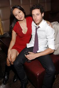 Steph Song and Paulo Costanzo at the premiere party of