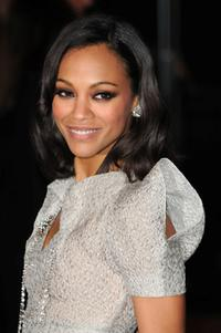 Zoe Saldana at the London premiere of
