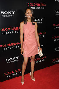 Zoe Saldana at the California premiere of