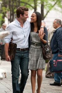 Bradley Cooper and Zoe Saldana in