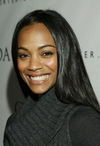Zoe Saldana at the launch party of