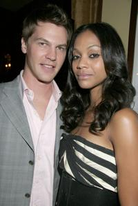 Keith and Zoe Saldana at the Bill Blass Shoe collection and The Daily Launch Party.
