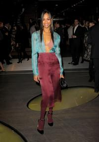 Zoe Saldana at the Prada book launch cocktail.