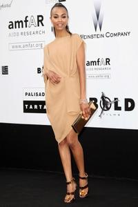 Zoe Saldana at the amfAR Cinema Against AIDS 2009 benefit.