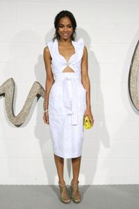 Zoe Saldana at the Chloe Los Angeles LA Boutique Opening party.