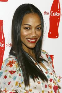 Zoe Saldana at the Coca-Cola Campaign Launch of