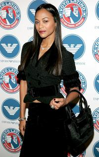 Zoe Saldana at the Voto Latino 1st Year Anniversary party.