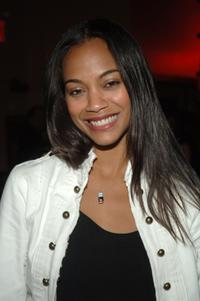 Zoe Saldana at the after-party for off-Broadway opening of