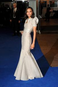 Zoe Saldana at the world premiere of