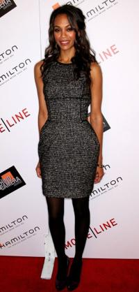 Zoe Saldana at the Hamilton Behind the Camera Awards.