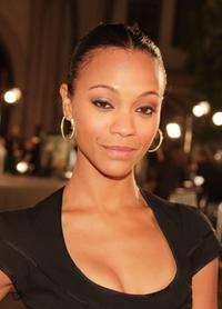 Zoe Saldana at the premiere of