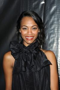 Zoe Saldana at the Louis Vuitton Pret a Porter show during the Paris Womenswear Fashion Week Spring/Summer 2010.