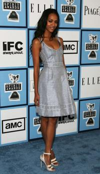 Zoe Saldana at the 2008 Film Independent's Spirit Awards.