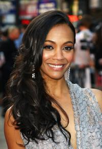 Zoe Saldana at the UK premiere of