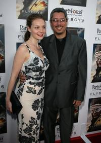 Lisa Brenner and Dean Devlin at the screening of
