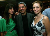 Jennifer Decker, Dean Devlin and Lisa Brenner at the screening of