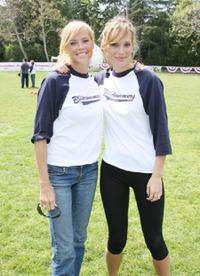 Erinn Bartlett and Molly Sims at the pre-premiere softball game.