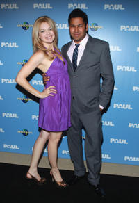 Clare Kramer and Dileep Rao at the Australian premiere of