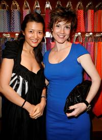 Sang and Zoe McLellan at the debut of Bugatti Veyron FBG.
