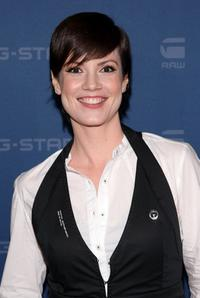 Zoe McLellan at the G Star Fall 2009 Fashion Show during the Mercedes-Benz Fashion Week.