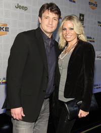 Nathan Fillion and Kate Luyben at the Spike TV's