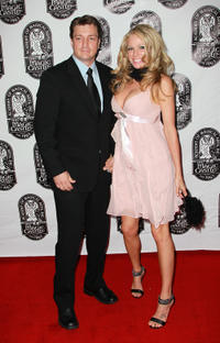 Nathan Fillion and Kate Luyben at the 42nd Annual Academy Of Magical Arts Awards.