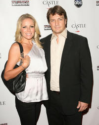 Kate Luyben and Nathan Fillion at the California premiere of