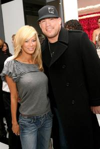 Jenna Jameson and Tito Ortiz at the Alice and Olivia Fall 2008 Collection during the Mercedes-Benz Fashion Week Fall 2008.
