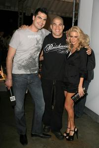 Rocco G, Tito Ortiz and Jenna Jameson at the Mercedes-Benz Fashion Week.