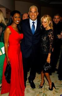 Omarosa, Tito Ortiz and Jenna Jameson at the 18th Annual Night of 100 Stars Gala.