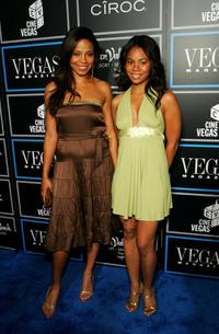 Sanaa Lathan and Regina Hall at the Vegas Magazine 3rd Anniversary Party.