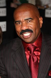 Steve Harvey at the Chado Ralph Rucci Spring 2010 Fashion Show.