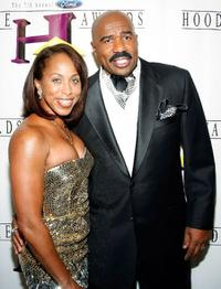 Marjorie Harvey and Steve Harvey at the Seventh Annual Hoodie Awards.