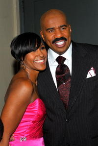 Terri J. Vaughn and Steve Harvey at the 9th Annual BET Celebration of Gospel.