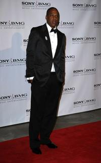 Jay-Z at the Sony BMG Music 2008 Grammy Awards after party.