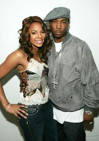 Ashanti and Ja Rule at the MTV's Total Request Live.