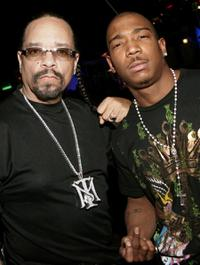Ice-T and Ja Rule at the grand opening of Mario Barth's Starlight Tattoo.