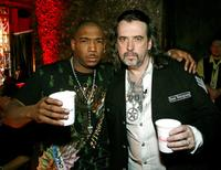 Ja Rule and Mario Barth at the grand opening of Mario Barth's Starlight Tattoo.