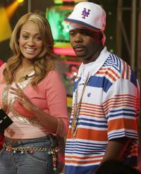 LaLa and Memphis Bleek at the MTV's straight up hip hop all week.