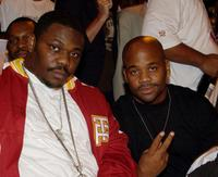 Beanie Sigel and Damon Dash at the Kingdome basketball tournament championship finals.