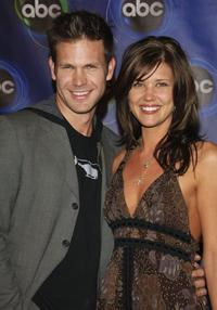 Matthew Davis and Sarah Lancaster at the ABC Winter Press Tour All Star Party.