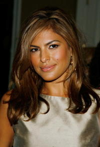 Eva Mendes at the 2007 HFPA Installation Lunch.