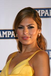 Eva Mendes at the party for the launch of the Campari Calendar 2008.