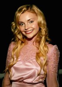 Izabella Miko at the ICM party in Toronto, Ontario.