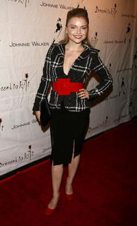 Izabella Miko at the Johnnie Walker Dressed to Kilt 2006 fashion show in Culver City, California.