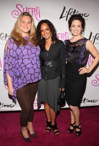 Elizabeth Regen, Tammy Townsend and Kali Rocha at the launch party for new sitcom