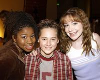 Giovonnie Samuels, Jake Thomas and Lisa Foiles at the Thomas's 13th birthday party.