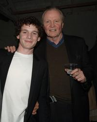 Anton Yelchin and Jon Voight at the after party premiere of