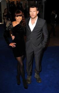 Sam Worthington and Guest at the London premiere of